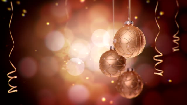 Christmas ball - bronze video