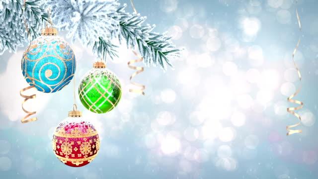 Christmas ball RGB video