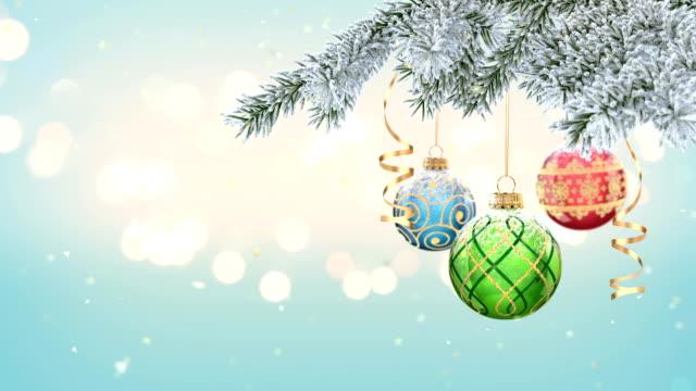christmas ball - treedeo christmas stock videos & royalty-free footage