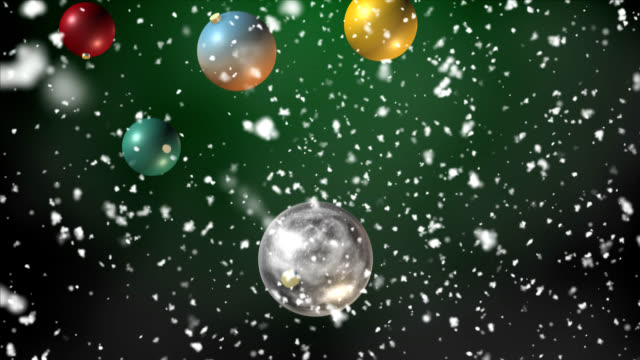 Christmas Balls - falling, seamless loop video
