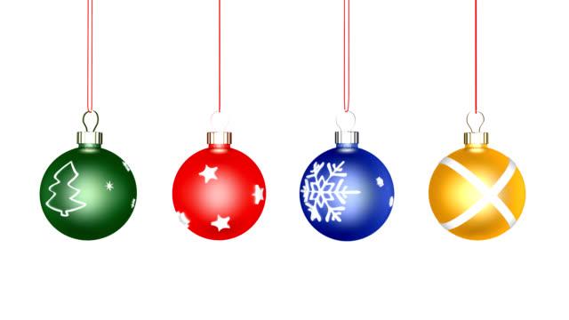 Christmas Balls  Loop (HD 25fps + Alpha)