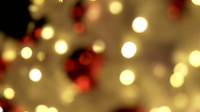 Christmas Balls on Christmas Tree In Jerusalem, From Defocused Bokeh Background to Focus video