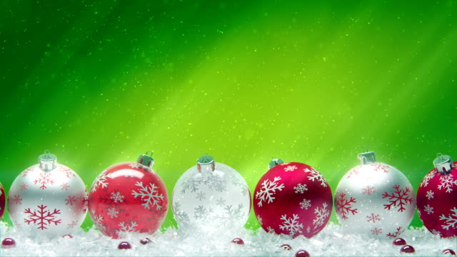 Christmas Balls. Red on green. video