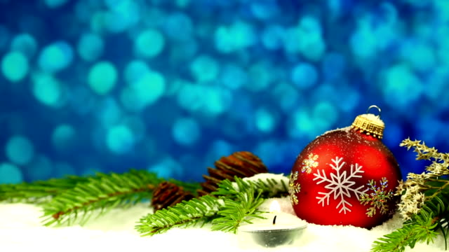 Christmas Bauble with candle video