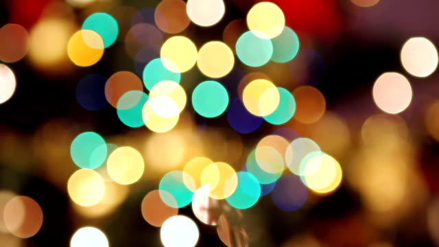 Christmas bokeh lights video