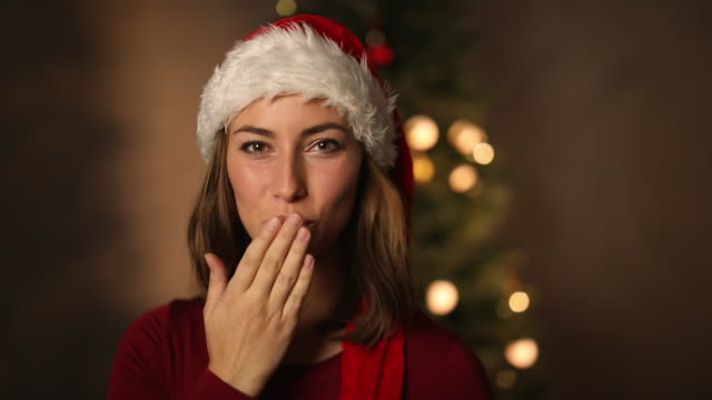 Christmas brunette video