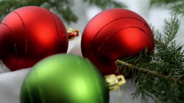 Christmas bulbs and cookies video