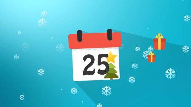 Christmas Calendar Blue Infographics video