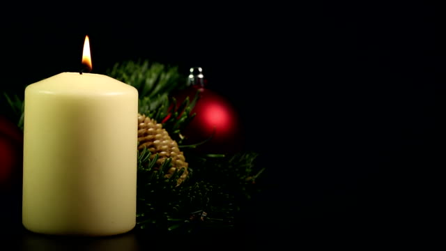 Christmas Candle with text space video