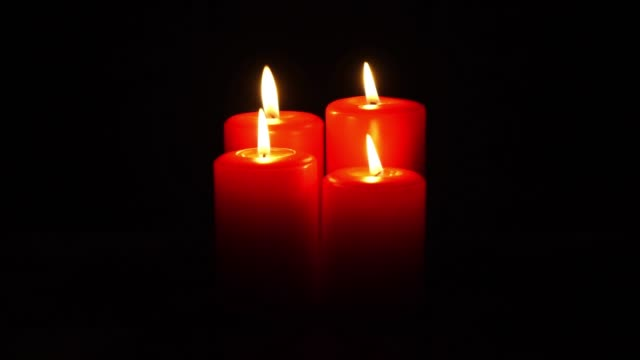 christmas candles flickering video