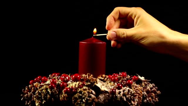 Navidad velas - vídeo
