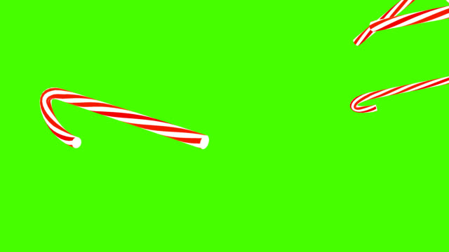 3D Christmas Candy Canes Falling Background video