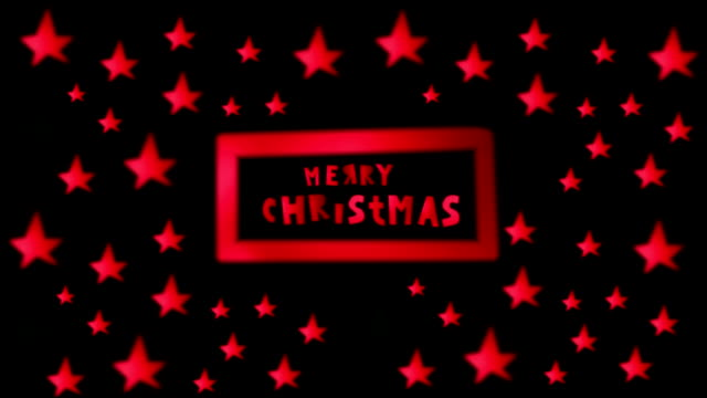 Christmas Card, Neon, Lights, Christmas Stars video