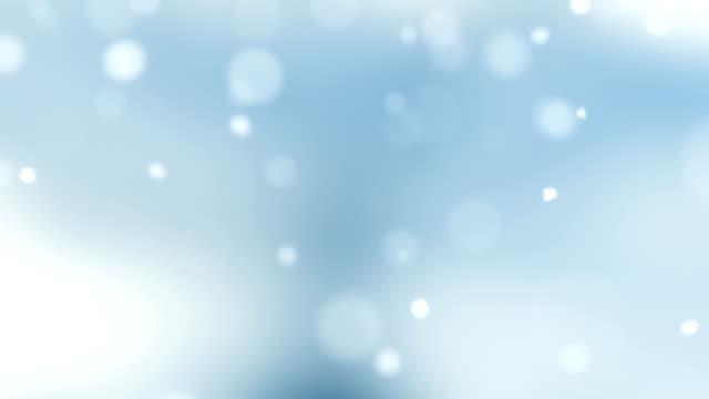 vídeos de stock e filmes b-roll de christmas card (loop 4k) - snow with glitter effect. - christmas card