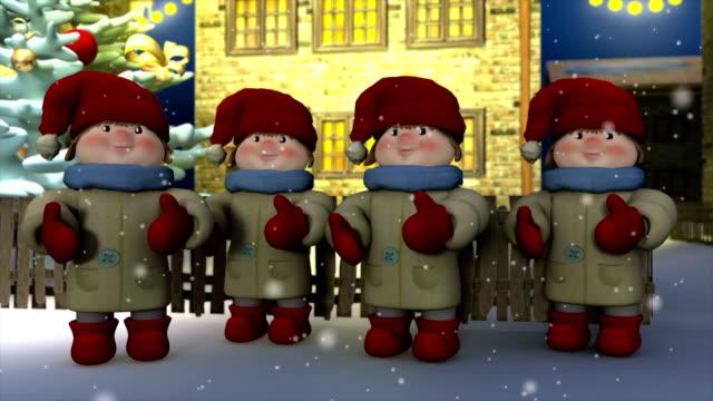 christmas carols - treedeo christmas stock videos & royalty-free footage