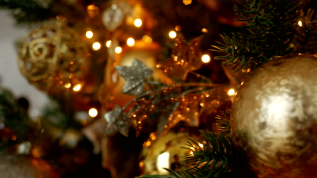 Christmas decoration balls and composition video