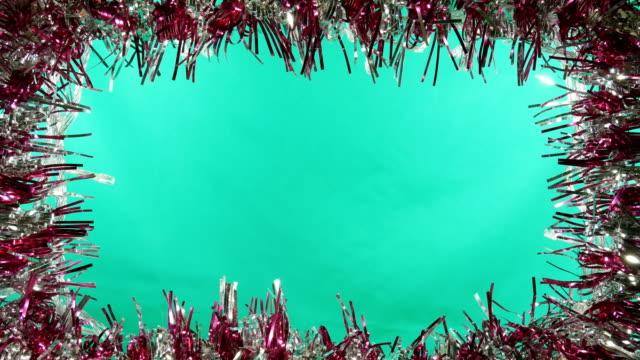 jul dekoration ram grön skärmbakgrund 4k - christmas frame bildbanksvideor och videomaterial från bakom kulisserna