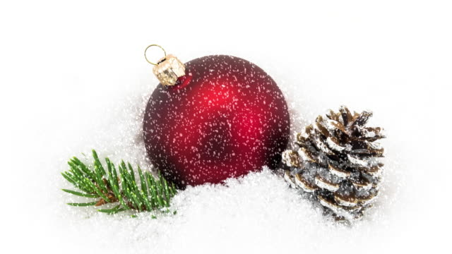 christmas decoration in snow video - Christmas Decoration Video