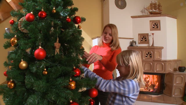 HD CRANE: Christmas Decoration video