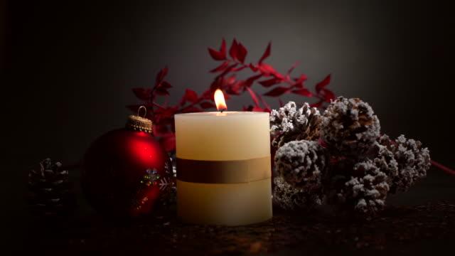 Navidad decoración con velas - vídeo