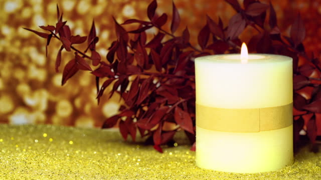 Christmas decoration with candle video