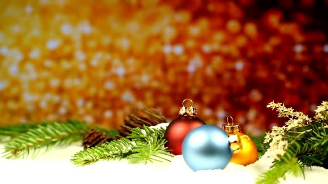 Weihnachts-Dekoration mit Glitzer Hintergrund – Video