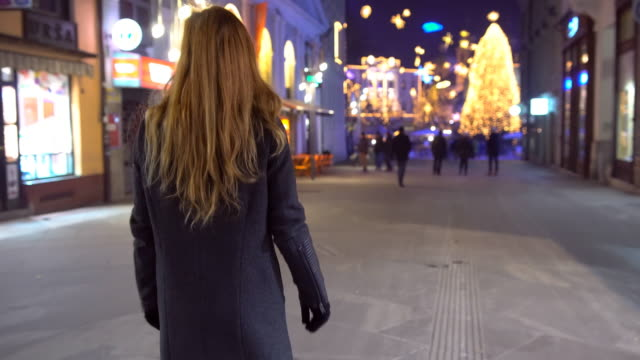 Christmas decorations in the city video
