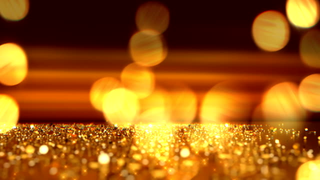 Christmas defocused background - Bokeh Gold