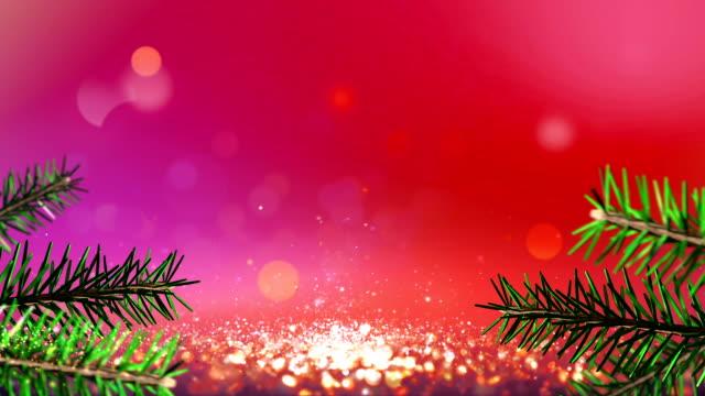 Christmas defocused background video