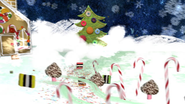 Christmas Eve -  a mixed media animation. 'Merry_Christmas' version. video