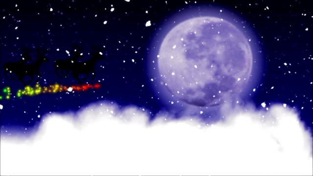 christmas eve night santa on his sleigh - norrbotten bildbanksvideor och videomaterial från bakom kulisserna
