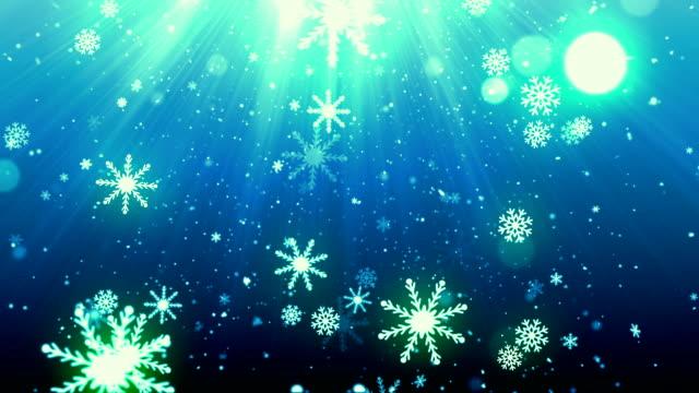 SnowFlakes de víspera de Navidad - vídeo