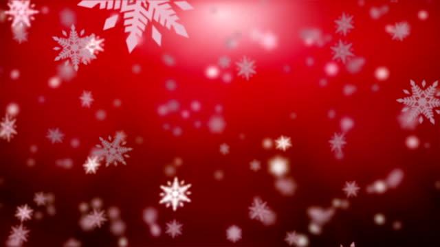Christmas falling snow - seamless loop video