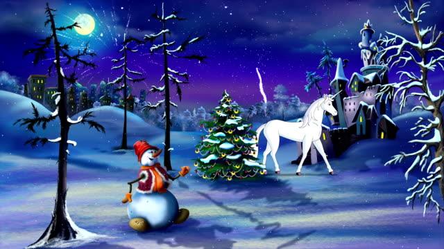 Weihnachten Fantasy mit magischen Einhorn – Video