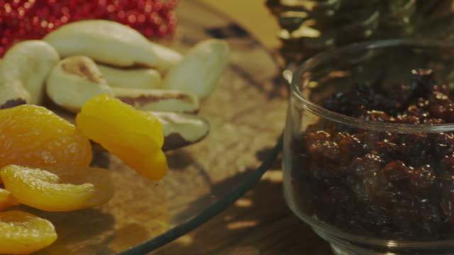 christmas food - panettone video stock e b–roll