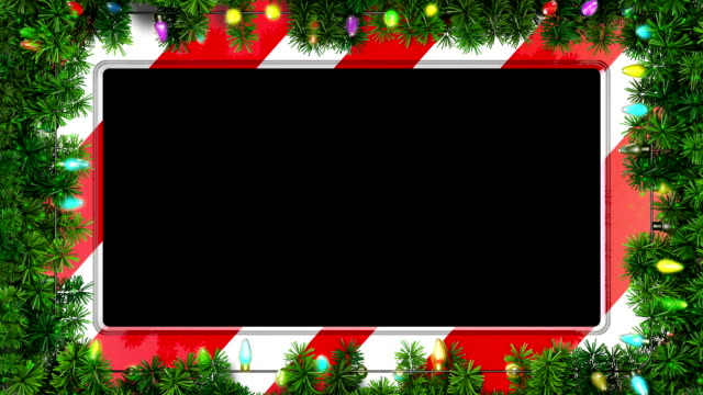 christmas frame with travel matte - christmas background стоковые видео и кадры b-roll