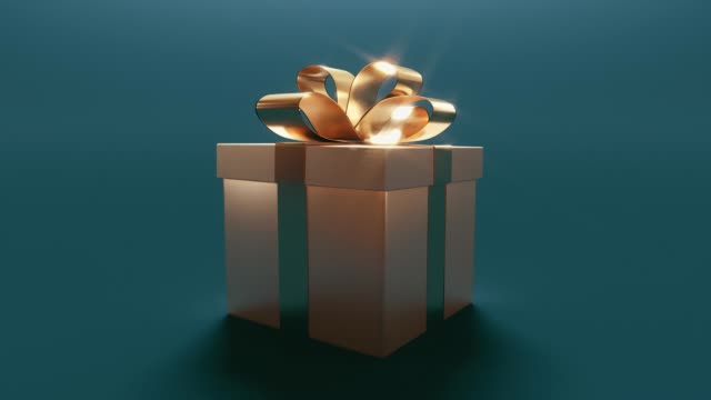 Christmas gift box Christmas gift box with bright or magic content gifts stock videos & royalty-free footage