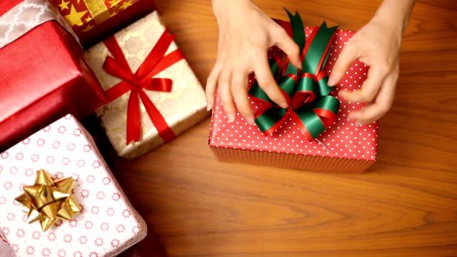 Christmas gift presents decoration winter season video