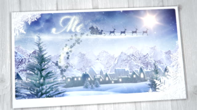 Christmas Greeting Card (from day to night) - Loop video