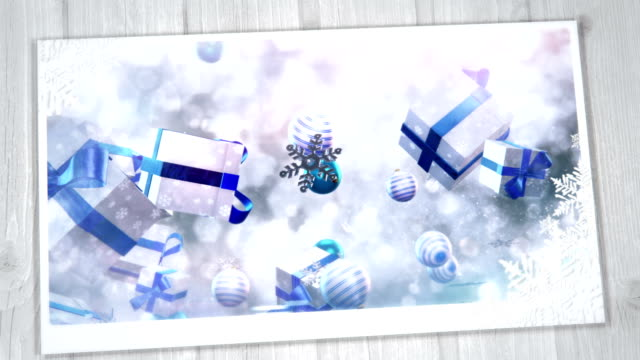 Christmas Greeting Card (silver, blue)