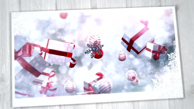 Christmas Greeting Card (gold, red) video