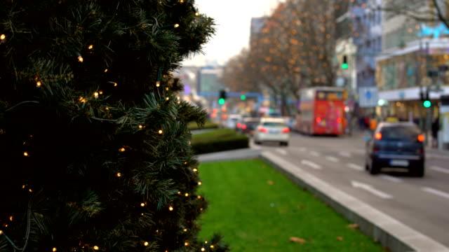Christmas in Berlin Kurfürstendamm, panning Christmas in Berlin Kurfürstendamm weihnachten stock videos & royalty-free footage