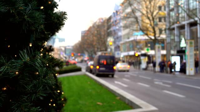 Christmas in Berlin Kurfürstendamm, time lapse Christmas in Berlin Kurfürstendamm, time lapse weihnachten stock videos & royalty-free footage