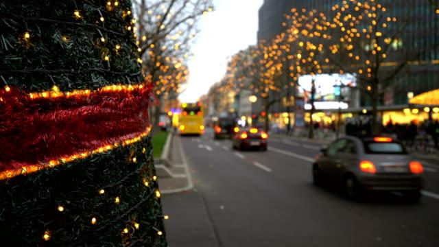 Christmas in Berlin Kurfürstendamm Christmas in Berlin Kurfürstendamm weihnachten stock videos & royalty-free footage