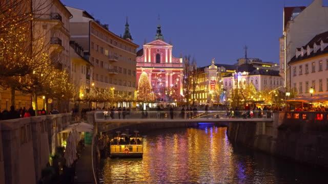 Christmas in Ljubljana at night video