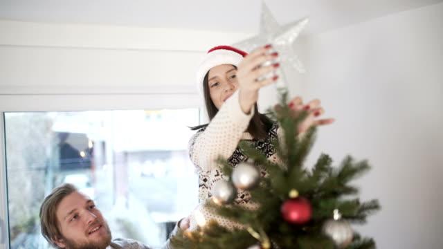 christmas joy - decorare video stock e b–roll