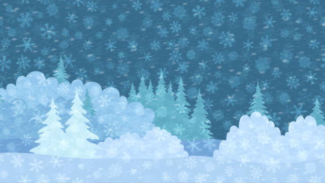Christmas Landscape, Winter Forest, Seamless Loop video