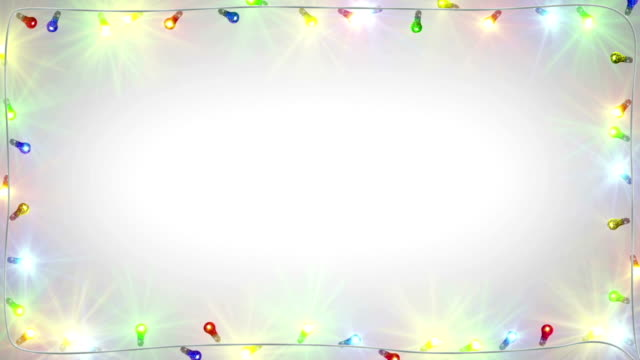 christmas light bulbs frame seamless loop - christmas lights стоковые видео и кадры b-roll