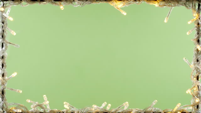 christmas light frame green screen background 4k - christmas lights стоковые видео и кадры b-roll
