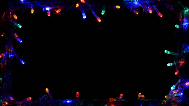 Christmas light frame LED multi color 4K video